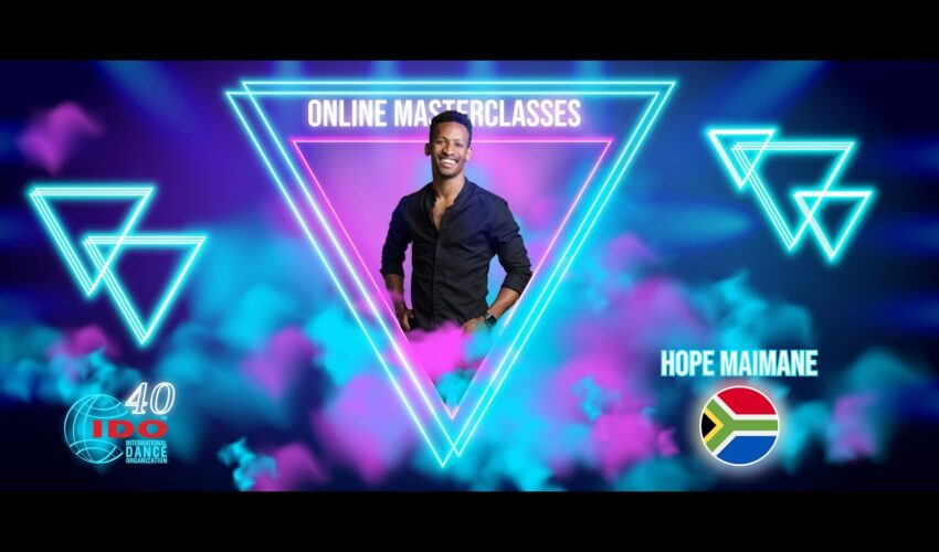 IDO MASTERCLASS   MODERN  HOPE MAIMANE   SOUTH AFRICA